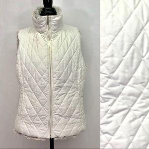 Weatherproof Reversible Quilted Fur Vest